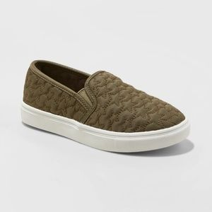 Girls' Anna Slip on Quilted Sneakers